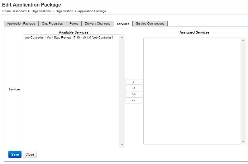 Configure an Application Package for an Organization